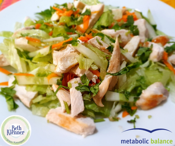 Metabolic Balance Chicken with summer salad