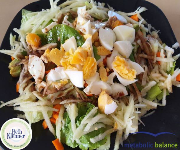 Metabolic Balance Eggs hard boiled with simple salad