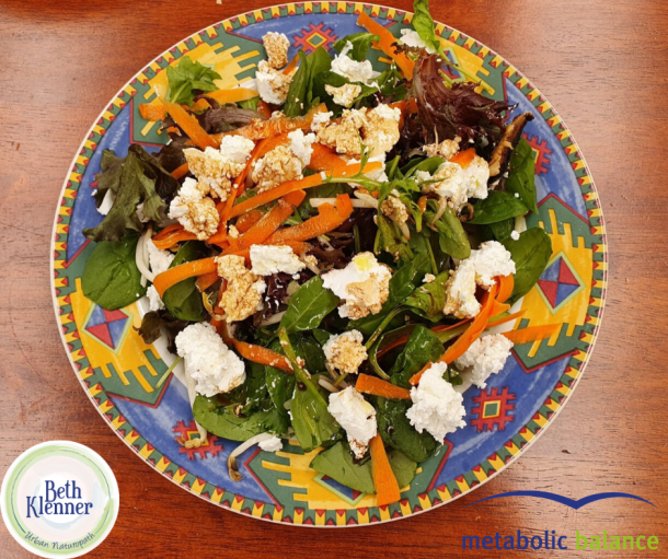 Metabolic Balance Goat cheese salad