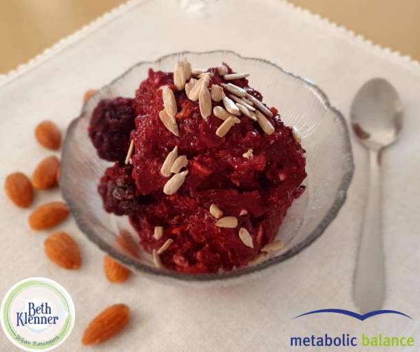 Metabolic Balance Mandelade with blackberries